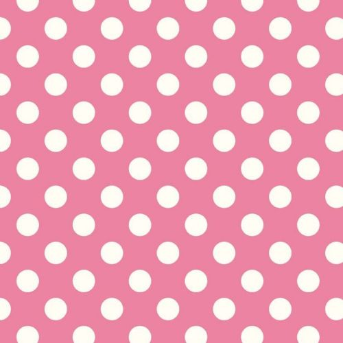 "Riley Blake - Dots (Hot Pink/Antique)    3/4"" (1.75cm) spot Fabric"